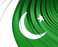 flagga pakistan royaltyfri illustrationer