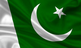 flagga pakistan Arkivfoto
