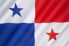 flagga panama Royaltyfri Fotografi