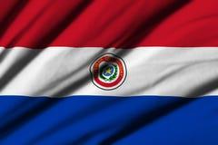 flagga paraguay Royaltyfri Bild
