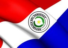 flagga paraguay vektor illustrationer