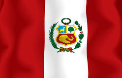 flagga peru Royaltyfri Bild