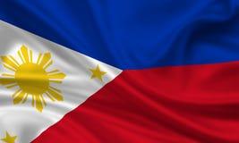 flagga philippines Fotografering för Bildbyråer