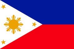 flagga philippines Royaltyfri Bild