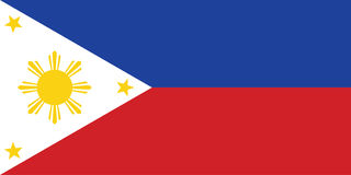 flagga philippines Arkivfoton