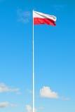 flagga poland Fotografering för Bildbyråer