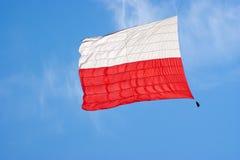 flagga poland Royaltyfri Fotografi