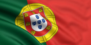 flagga portugal vektor illustrationer
