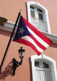 flagga Puerto Rico Royaltyfri Fotografi