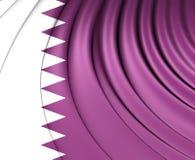 flagga qatar stock illustrationer