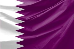 flagga qatar Arkivfoton