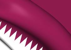 flagga qatar vektor illustrationer