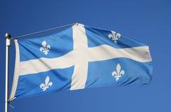 flagga quebec Royaltyfri Foto