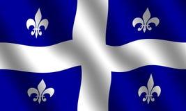flagga quebec royaltyfri illustrationer