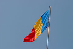 flagga romania Royaltyfria Bilder