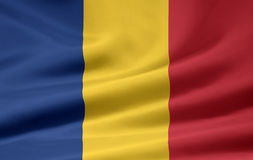 flagga romania Royaltyfria Foton