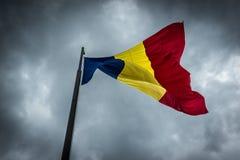 flagga romania Fotografering för Bildbyråer