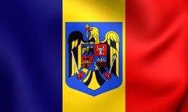 flagga romania stock illustrationer