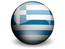 flagga runda greece royaltyfri illustrationer