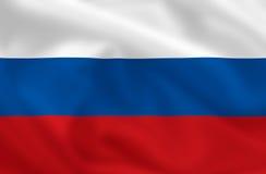 flagga russia Royaltyfri Foto