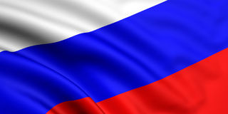 flagga russia Arkivfoton