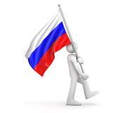 flagga russia Royaltyfri Bild