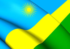 flagga rwanda stock illustrationer