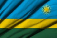 flagga rwanda Arkivbild