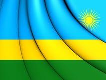 flagga rwanda royaltyfri illustrationer