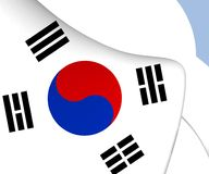 flagga södra korea stock illustrationer