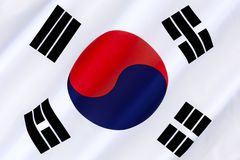 flagga södra korea Arkivbild