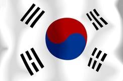 flagga södra korea Fotografering för Bildbyråer