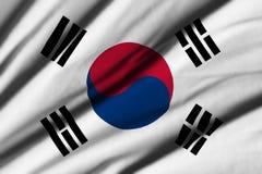 flagga södra korea Royaltyfri Foto