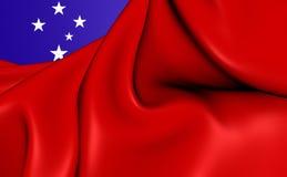 flagga samoa royaltyfri illustrationer