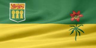 flagga saskatchewan Arkivbild