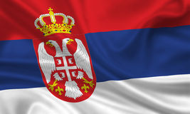 flagga serbia royaltyfri foto