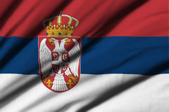 flagga serbia Arkivbilder