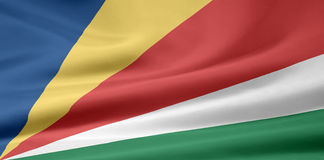 flagga seychelles Arkivbild