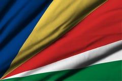 flagga seychelles Arkivfoto