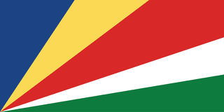 flagga seychelles Royaltyfria Bilder