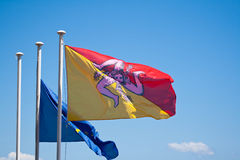 flagga sicily Royaltyfri Bild