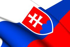 flagga slovakia stock illustrationer