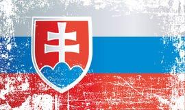 flagga slovakia Rynkiga smutsiga fläckar stock illustrationer