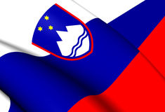 flagga slovenia royaltyfri illustrationer