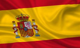 flagga spain royaltyfria bilder