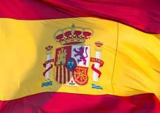 flagga spain Fotografering för Bildbyråer