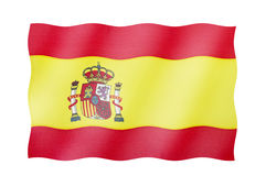 flagga spain Arkivbild