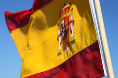 flagga spain Royaltyfri Fotografi