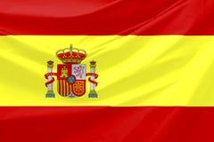 flagga spain Royaltyfri Bild