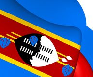 flagga swaziland royaltyfri illustrationer